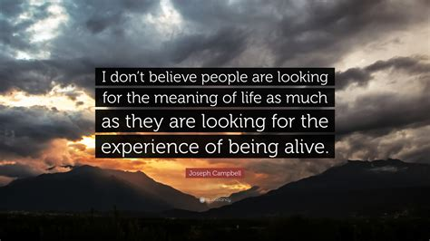 "Joseph Campbell Quote ""i Don't Believe People Are Looking"