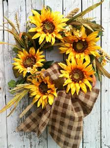 Fall Sunflower Wreath Door