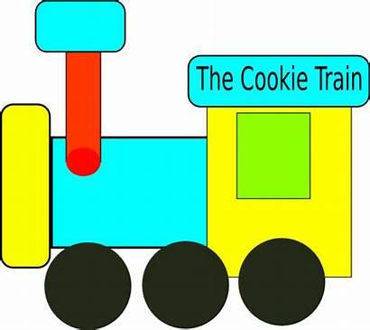 Train Cookie Clker Clip Clipart Domain