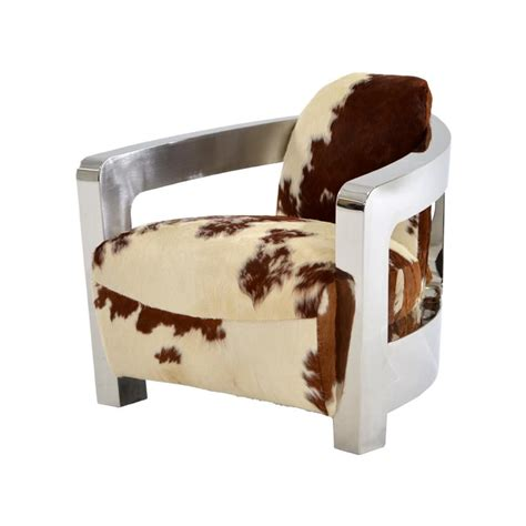 Cowhide Accent Chair by Aviator Brown Cowhide Leather Accent Chair El Dorado