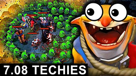 new techies patch 7 08 dota 2 new meta gameplay carry techies youtube