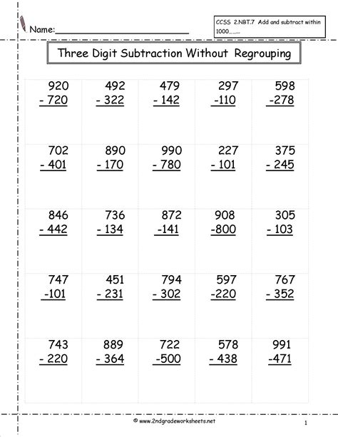 multi digits addition and subtraction worksheet worksheets for subtraction with regrouping worksheet