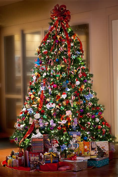 fancy decorated christmas trees