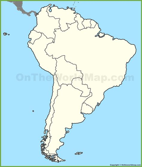 Blank Map Of North And South America Mucotadkanewsco