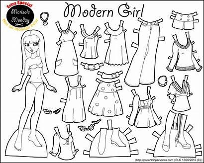 Paper Doll Printable Modern Monday Marisole Dolls