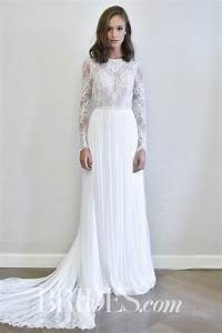 flora long sleeve wedding dress with lace bodice and With long sleeve tight wedding dresses