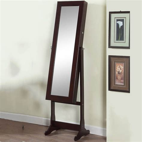 floor mirror lights artiva deluxe floor standing mirror and jewelry cabinet with led lights jewelry armoires