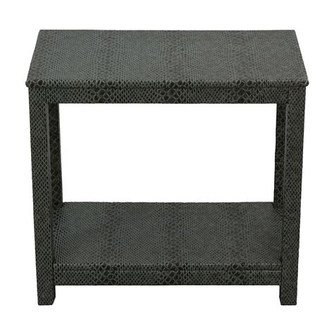 leather console table 85 society social society social green faux