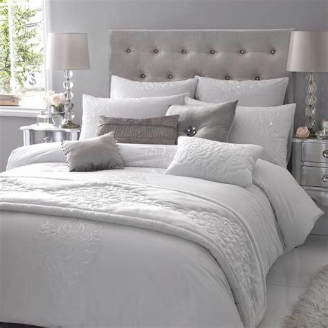 Velvet Upholstered King Headboard by Grey And White Winter Bedding Bedroom Decor Pinterest