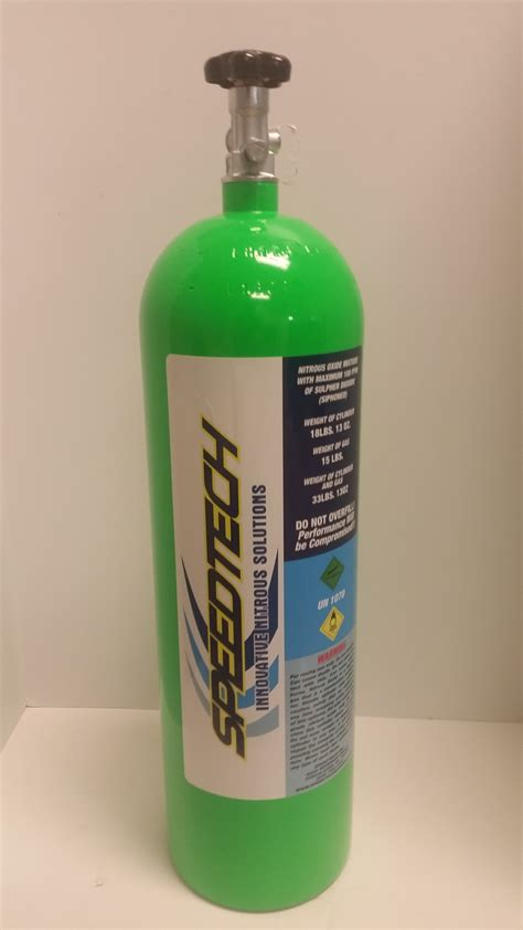 15lb Nitrous Bottle with Valve (Stand Up)