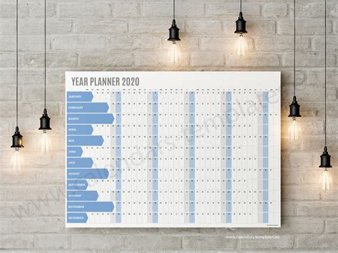 yearly wall planner kp calendar template