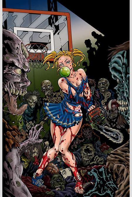 Zombies vs Cheerleaders Color by Pigz-n-Zen on DeviantArt