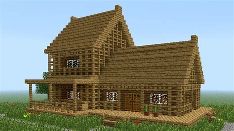 farmhouse designs minecraft how to build wooden house 2
