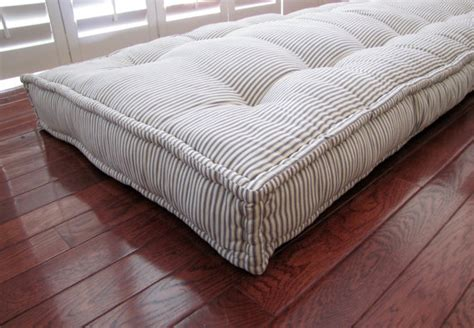 cusion pads custom cushions blue ticking stripe mattress