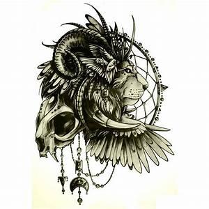 Tatouage Attrape Reve Homme : tatouage ephemere lion et attrape r ves tempo tattoo ~ Melissatoandfro.com Idées de Décoration