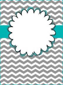 Cute Binder Cover Templates