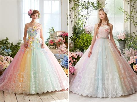 princess worthy wedding dresses featuring pastel color