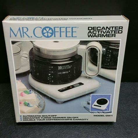 Delivering products from abroad is always free, however, your parcel. NEW Mr Coffee Decanter Carafe Activated Warmer Model DW1 White 60W Auto Shut Off   eBay