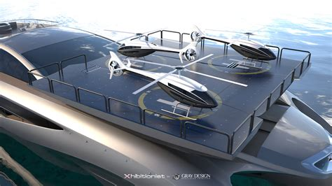 Yacht With Helipad by Xhibitionist Yacht Concept Helipad Yacht Charter