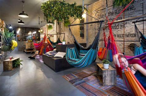 tag agency hammocks swing in hammocks at barcelona s hippest vegan joint