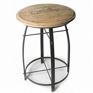 Table Haute Bois Metal : table de bar haute bois ~ Teatrodelosmanantiales.com Idées de Décoration