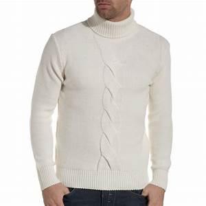 Pull Col Roulé Homme : pull homme col roul blanc tendance et fashion ~ Melissatoandfro.com Idées de Décoration