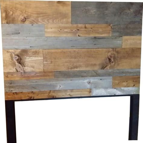 authentic barn wood  plank wood headboard vintage