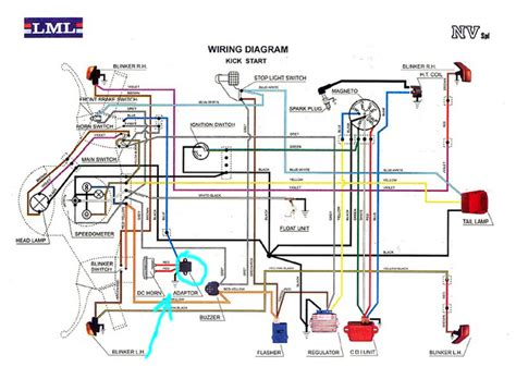 Vespa Lx 150 Wiring Diagram by Modern Vespa Is There And Adaptor On Lml Nv Vespa For Horn