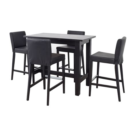 80% Off  Ikea Ikea Bar Height Table And Stools  Tables