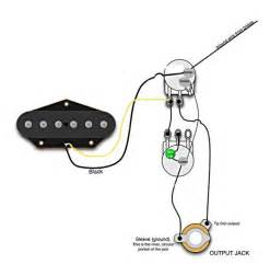 Single Pickup Guitar Wiring Diagram