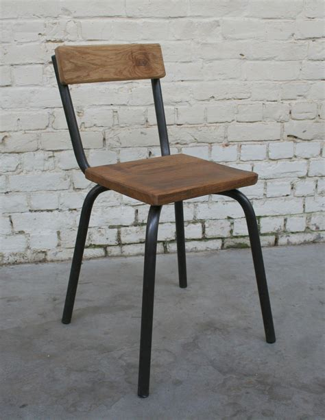 chaise bois et metal chaise cb 39 ch002 giani desmet meubles indus bois métal