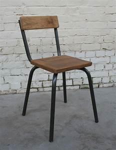 Chaise Bois Vintage : chaise cb 39 ch002 giani desmet meubles indus bois m tal et cuir ~ Teatrodelosmanantiales.com Idées de Décoration