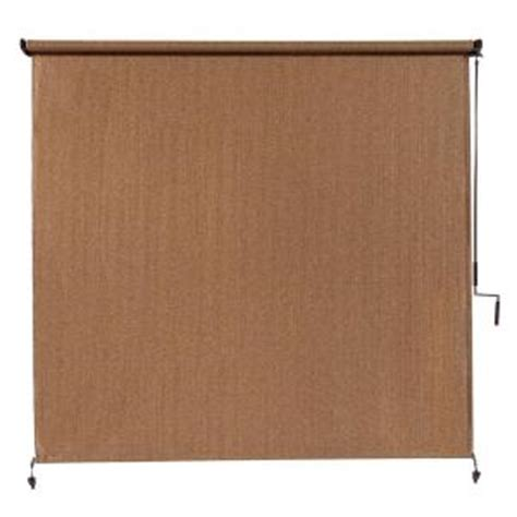 coolaroo walnut cordless exterior roller shade 120 in w