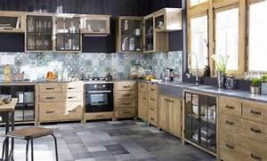 Style Industriel Ikea : cuisine industrielle noire luxe cuisine style industriel ikea photos les id es de ma maison ~ Teatrodelosmanantiales.com Idées de Décoration
