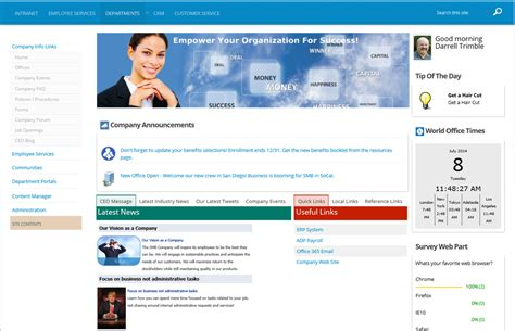Training Site Template Sharepoint 2013 by Business Intranet Portal Template For Office 365 And