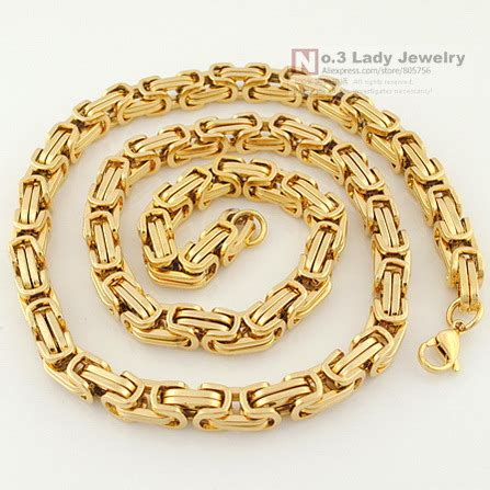 Aliexpresscom  Buy 18k Gold Plated Chains For Mens