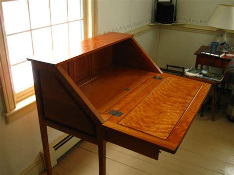 slant front desk  frame finewoodworking