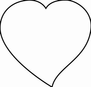 Clip Art: craigmj heart sheet page black white ...