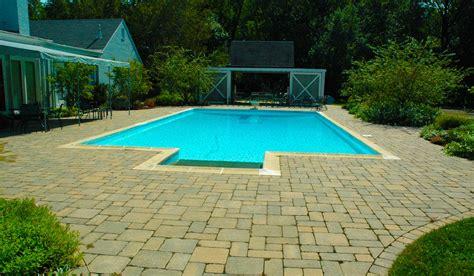 pool decks hirsch brick  stone