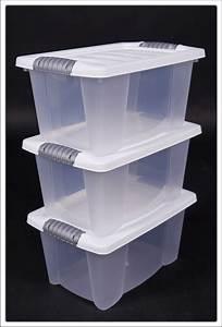 Plastikkisten Mit Deckel : multibox in wei 3 st ck mit deckel stapelbox aufbewahrungsbox box boxen ebay ~ Frokenaadalensverden.com Haus und Dekorationen
