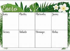 Enero 2018 descarga aquí tu calendario y planner semanal