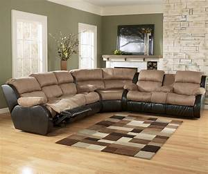 3 piece sectional sofa with recliner presley espresso 3 for Large 3 piece sectional sofa