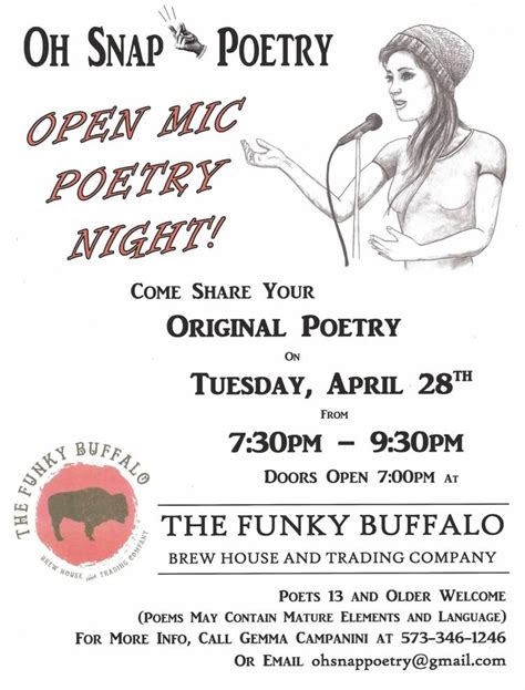 The Boat Open Mic Night by Open Mic Poetry Night At The Funky Buffalo Live Music