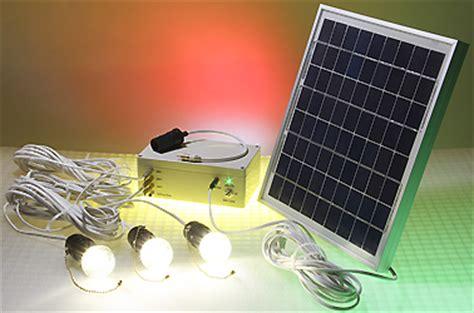 solar powered led lighting system 3 led bulbs 10w solar