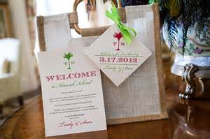 welcome wedding bags destination wedding on kiawah island south carolina