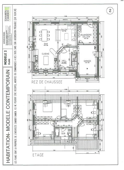 plan maison etage 3 chambres gratuit plan et modele de maison nord maubeuge jeumont