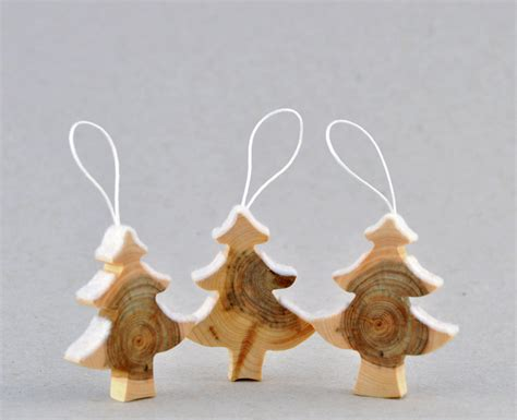 wooden christmas decorations   juniper tree