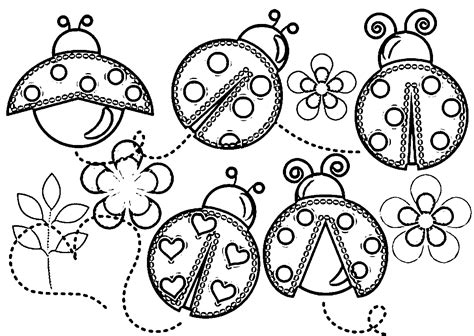 Ladybug Coloring Pages Easy