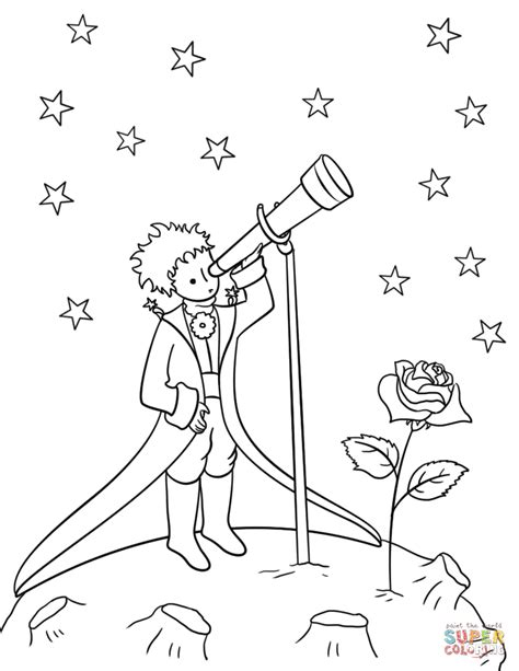Little Prince with Telescope   Super Coloring in 2020