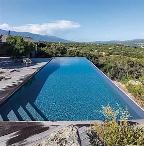 Piscine A Débordement : piscine d bordement dans un crin naturel corse c t ~ Farleysfitness.com Idées de Décoration